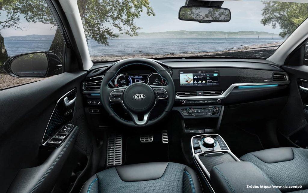Kia Niro wnętrze samochód hybrydowy