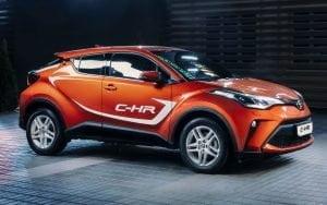 Toyota C-HR hybrydowa samochód hybrydowy web