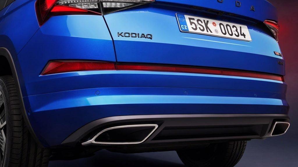 Skoda Kodiaq 2021 po liftingu dane techniczne dostepne wersje ceny wydech